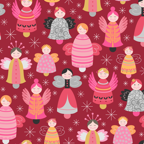 Chime of the Herald Angels fabric by kayajoy on Spoonflower - custom fabric