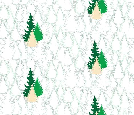 Evergreen Forest fabric by elvishthistle on Spoonflower - custom fabric