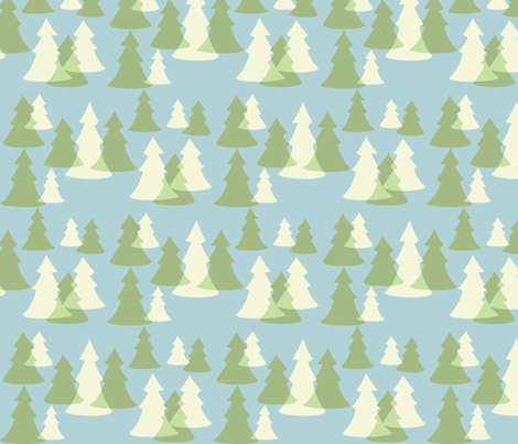 Evergreens fabric by laurawilson on Spoonflower - custom fabric