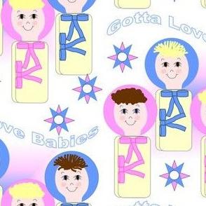 Gotta Love Babies Swaddling Group Fabric