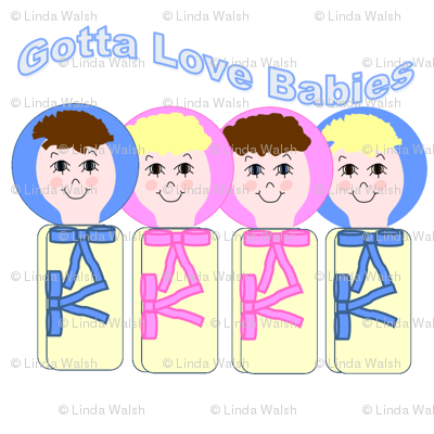 Gotta Love Babies Swaddling Group Fabric