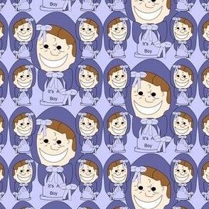 It's A Boy! Pincushion Favor Fabric