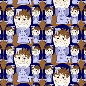 It's A Boy!  Spool Favor Fabric