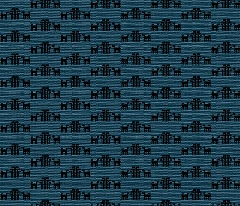 Black and Blue Skok Dog fabric by raven_miller on Spoonflower - custom fabric