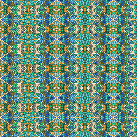 Zig Zag Peekaboo, Deco Flower, I See You fabric by edsel2084 on Spoonflower - custom fabric
