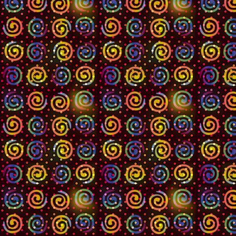 fiestival_swirly_dots fabric by glimmericks on Spoonflower - custom fabric