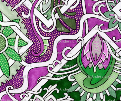 Purple and Green Cha Cha Diamonds