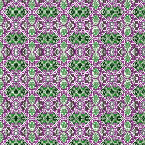 Purple and Green Cha Cha Diamonds fabric by edsel2084 on Spoonflower - custom fabric