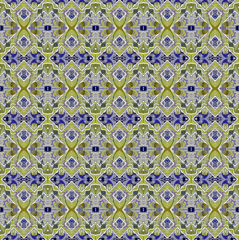 Art Nouveau Floating Olive Boxes fabric by edsel2084 on Spoonflower - custom fabric