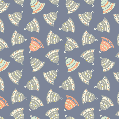 Retro Bells fabric by amel24 on Spoonflower - custom fabric