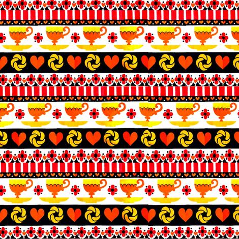 coffeetime_retro_original_color_red__yellow__black fabric by vinkeli on Spoonflower - custom fabric