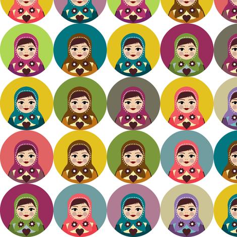 candy matryoshka polka fabric by scrummy on Spoonflower - custom fabric