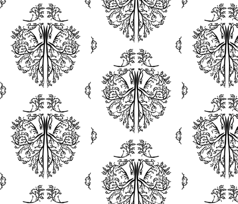 nature damask fabric by avelis on Spoonflower - custom fabric