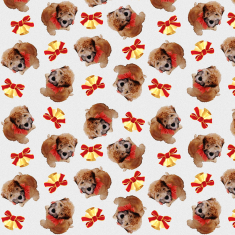 Christmas Puppy with Bells fabric by prairiegal on Spoonflower - custom fabric