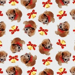 Christmas Puppy with Bells