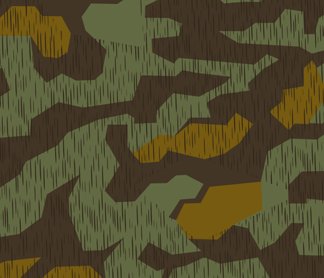 Splinter A Tropical Experimental fabric by ricraynor on Spoonflower - custom fabric