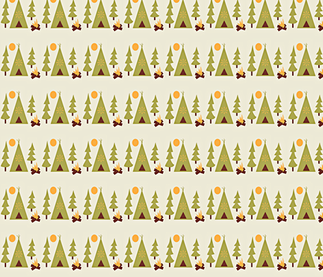Woodland Camp-out fabric by amy_frances_designs on Spoonflower - custom fabric