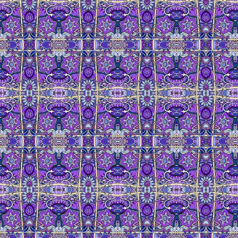 Purple Posies Posing fabric by edsel2084 on Spoonflower - custom fabric