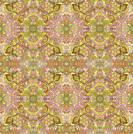 Wall to Wall Flowers fabric by edsel2084 on Spoonflower - custom fabric
