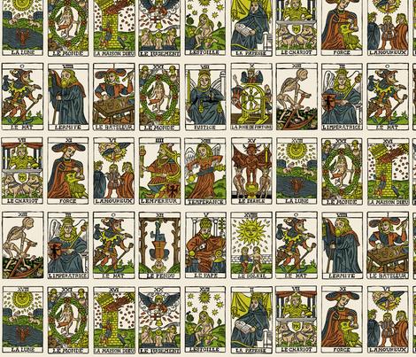 Tarot, large scale fabric by pkfridley on Spoonflower - custom fabric