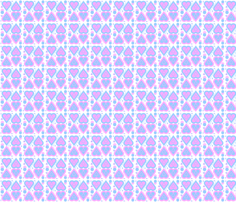 Pink and Blue It's A Girl! It''s A Boy! Hearts and Dots Fabric fabric by lworiginals on Spoonflower - custom fabric
