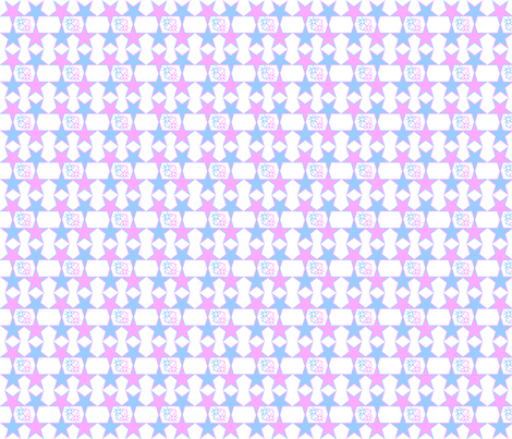 Pink & Blue Baby Stars Nursery Fabric fabric by lworiginals on Spoonflower - custom fabric