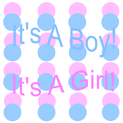 It's A Boy! It's A Girl! Pink & Blue Circles Fabric
