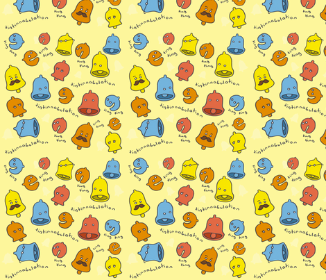 Bells fabric by smokey_longlong on Spoonflower - custom fabric