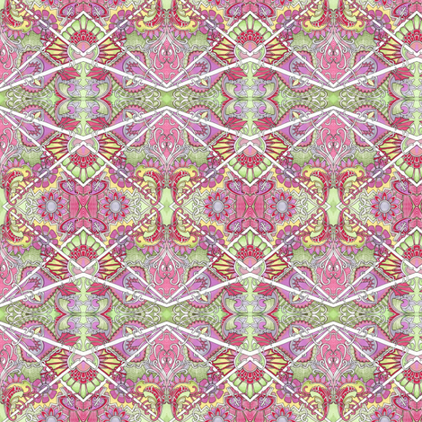 Mid Summer Foggy Dream in pink fabric by edsel2084 on Spoonflower - custom fabric