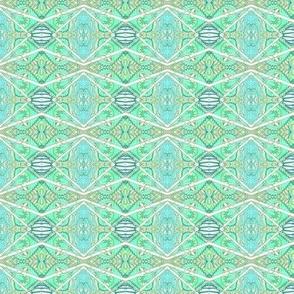 Crooked Horizontal Mint Stripe