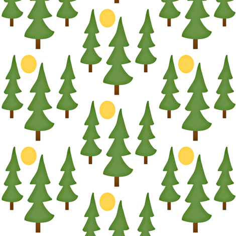 Pine tree forest -Into the Woods collection fabric by amy_frances_designs on Spoonflower - custom fabric