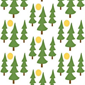 Pine tree forest -Into the Woods collection