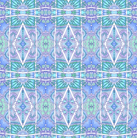 Granny's Baby Blue Boxes fabric by edsel2084 on Spoonflower - custom fabric