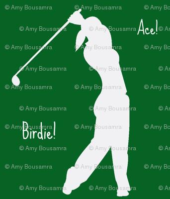 Woman golfer Ace! Birdie!