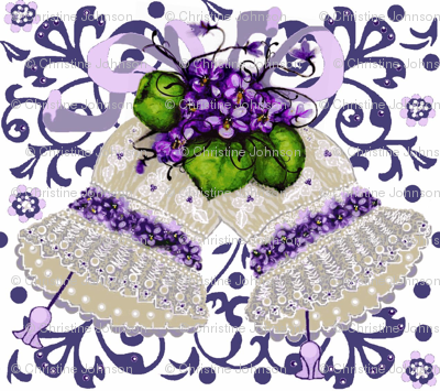 Couture blue lace bells