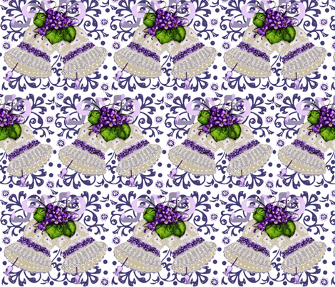 Couture blue lace bells fabric by paragonstudios on Spoonflower - custom fabric
