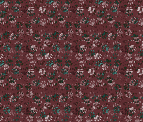 Sid and Mander Paws 2 - Cabernet and Turquoise fabric by jenithea on Spoonflower - custom fabric