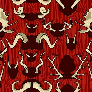 Antler Wall Blood