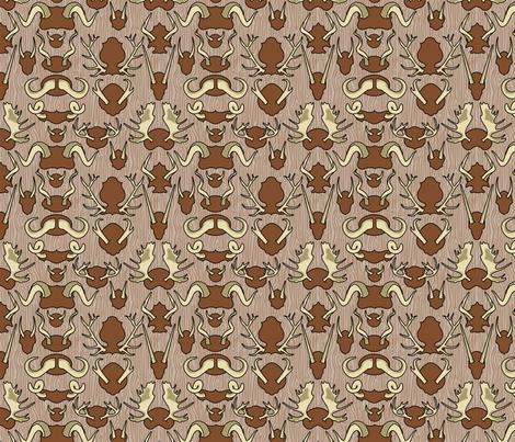 Antler Wall Bark fabric by thirdhalfstudios on Spoonflower - custom fabric