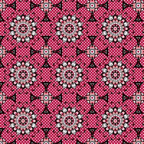 Elegant Spider - Red fabric by siya on Spoonflower - custom fabric