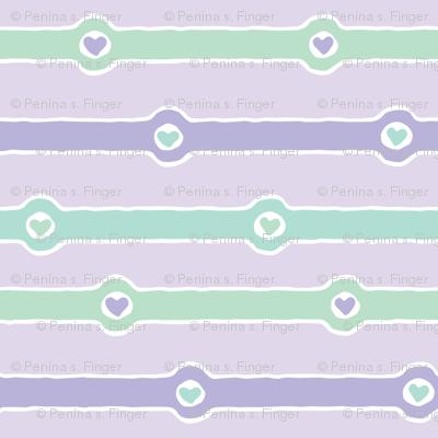Love Chain: Faithful II (lavender, mint green, purple, white)