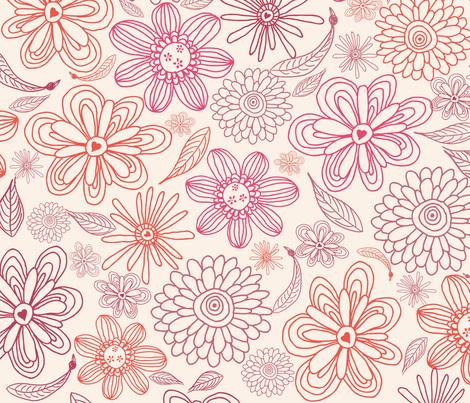 Whimsical flowers fabric by anastasiia-ku on Spoonflower - custom fabric
