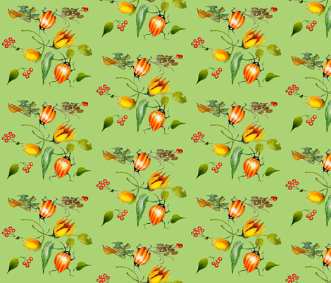 Leaf Bugs (Green Version) fabric by golders on Spoonflower - custom fabric