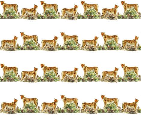 cheetahs__panthers_on_the_grass fabric by vinkeli on Spoonflower - custom fabric