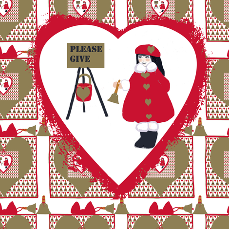 A BELL FOR GIVING TWO fabric by karenharveycox on Spoonflower - custom fabric
