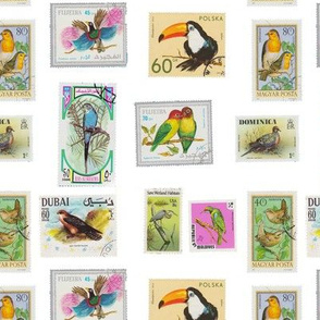 bird stamp pattern