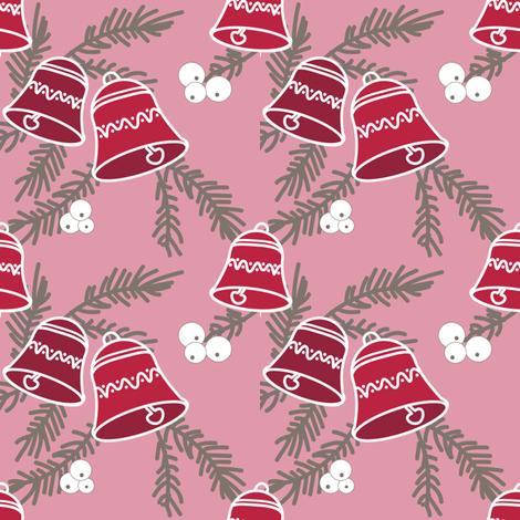 bells_redrose fabric by lilliblomma on Spoonflower - custom fabric