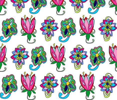 Alien Flowers fabric by graphicglee on Spoonflower - custom fabric