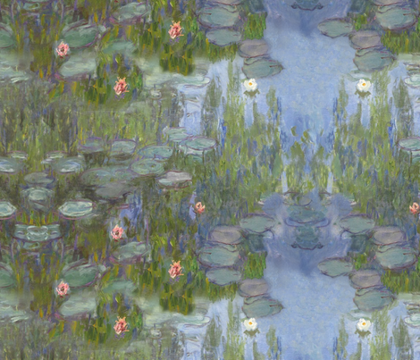 Monet's Nymphéas fabric by peacoquettedesigns on Spoonflower - custom fabric