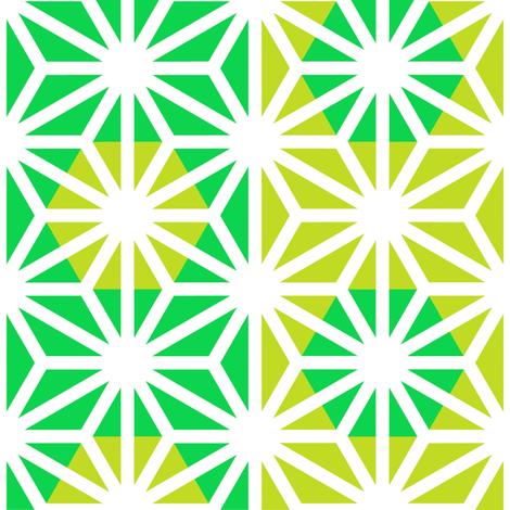 Asanoha (Green) fabric by nekineko on Spoonflower - custom fabric